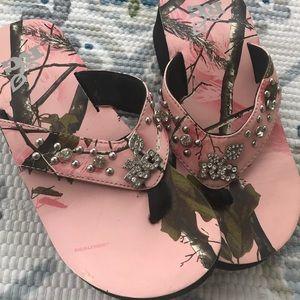 7b855b16bd017f Realtree Shoes - RealTree Girl Camo Pink Rachel ll Sandal Bling